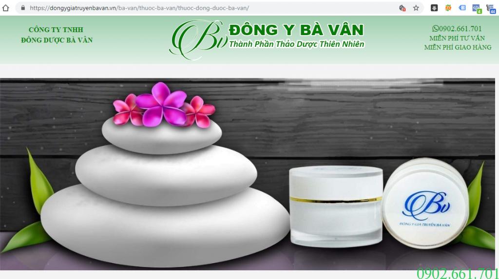Website Ủy Quyền Kem Da Nang Ba Van