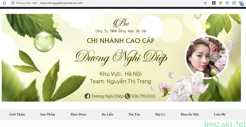 Website Đại Lý Đông Y Bà Vân Thành Phố Hà Nội