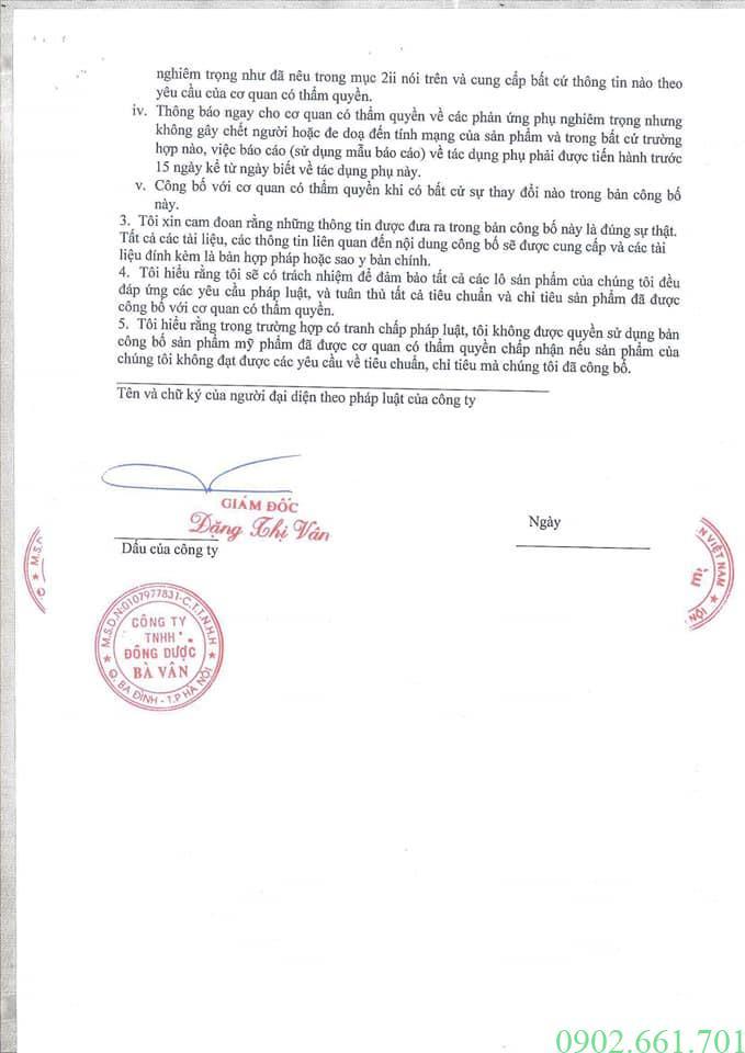 Hồ Sơ Sản Phẩm Kem Đa Năng Bà Vân Trang 4