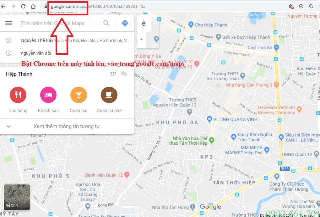 Vào Google Maps